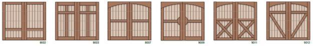 charterhouse garage doors panel styles